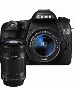 Canon 70D 18-55mm + 55-250mm IS II Lens Kit