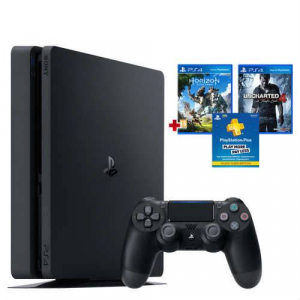 PS4 1TB Slim + Uncharted 4 + Horizon Zero Dawn + 3 Aylık PS Plus Hediye! (Sony Eurasia Garantili)